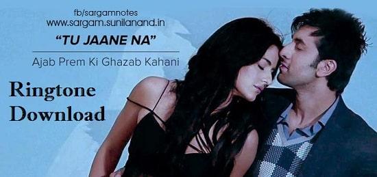 Tu Jaane Na Song's Ringtone Download - Latest Mp3 Ringtone