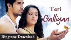 Teri Galliyan Ringtone Download – Songs Mp3 Mobile Ringtones
