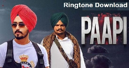 Paapi Song Ringtone Download – Sidhu Moose Wala Free Mp3 Tones