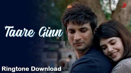 Taare Gin Song Ringtone Download - Dil Bechara Free Mp3 Tones